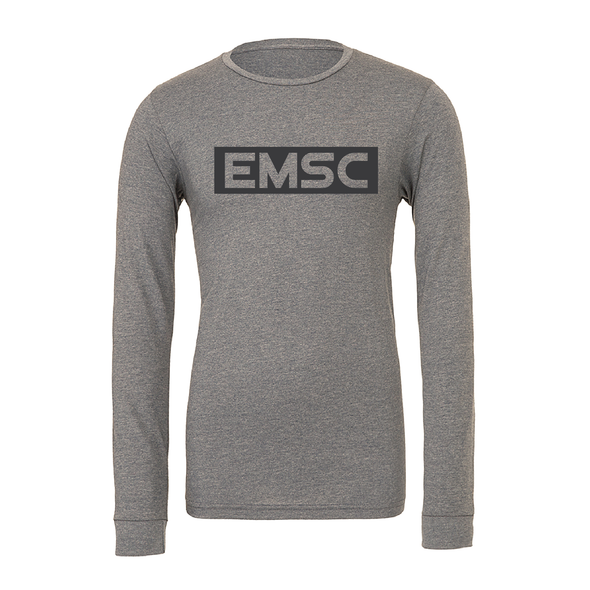EMSC FAN (Club Name) Bella + Canvas Long Sleeve Triblend T-Shirt Grey