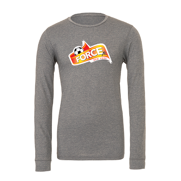 FORCE Bella + Canvas Long Sleeve Triblend T-Shirt Grey