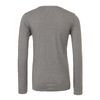 Monroe Woodbury SC (Patch) Bella + Canvas Long Sleeve Triblend T-Shirt Grey