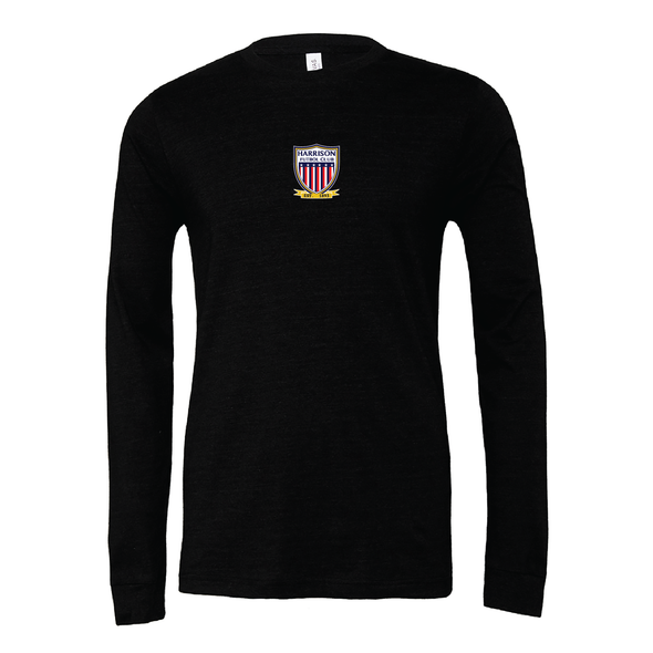 Harrison FC (Patch) Bella + Canvas Long Sleeve Triblend T-Shirt Heather Black