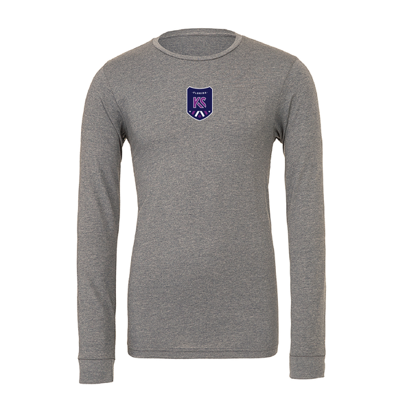 Kaptiva Sports (Patch) Bella + Canvas Long Sleeve Triblend T-Shirt Grey