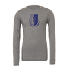 Montclair United Match Fit (Logo) Bella + Canvas Long Sleeve Triblend T-Shirt Grey