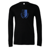 Montclair United Match Fit (Logo) Bella + Canvas Long Sleeve Triblend T-Shirt Heather Black