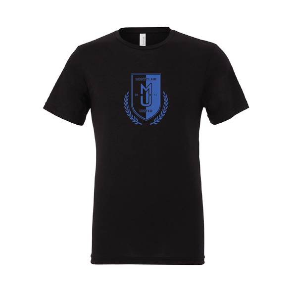 Montclair United Match Fit (Logo) Bella + Canvas Short Sleeve Triblend T-Shirt Solid Black