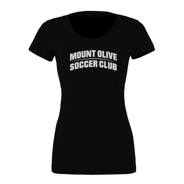 Mount Olive Travel (Club Name) Bella + Canvas Short Sleeve Triblend T-Shirt Solid Black