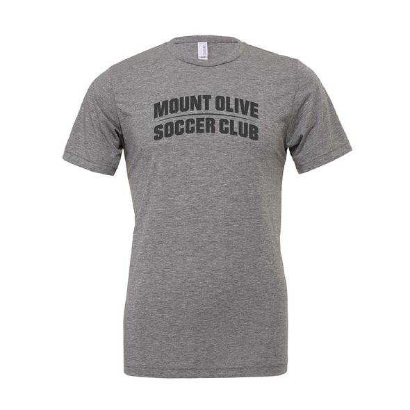 Mount Olive Travel (Club Name) Bella + Canvas Short Sleeve Triblend T-Shirt Grey