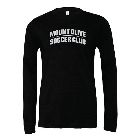 Mount Olive Travel (Club Name) Bella + Canvas Long Sleeve Triblend T-Shirt Heather Black
