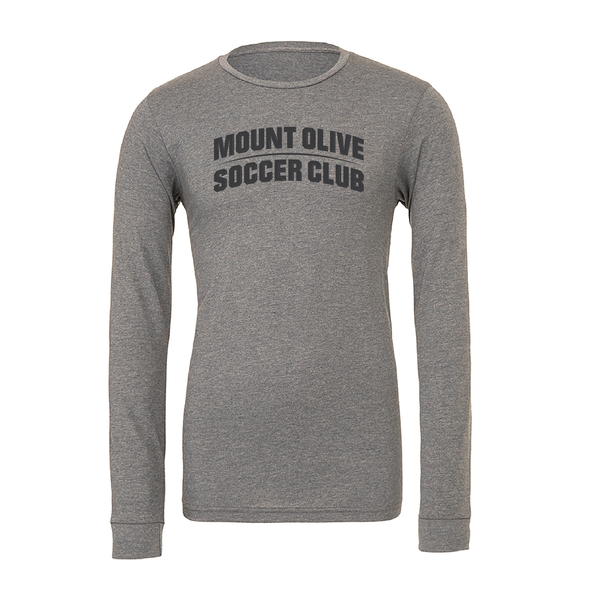Mount Olive Travel (Club Name) Bella + Canvas Long Sleeve Triblend T-Shirt Grey