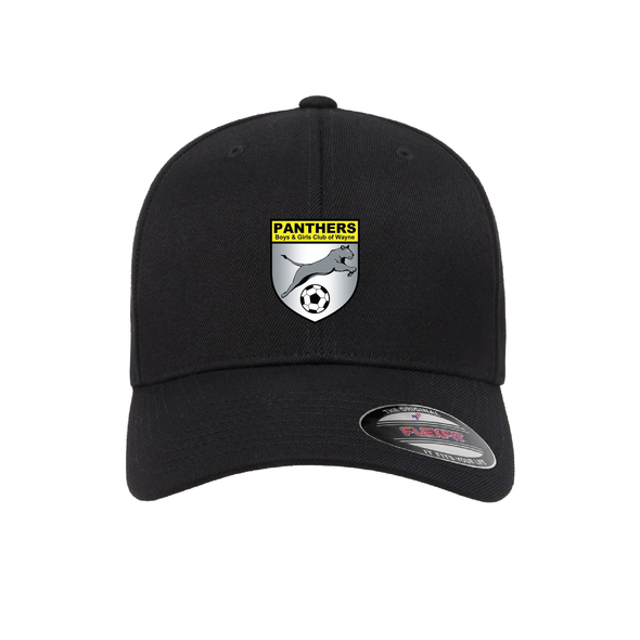 Wayne Panthers Flexfit Wool Blend Fitted Cap Black