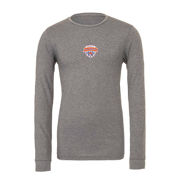 Parsippany SC Academy (Patch) Bella + Canvas Long Sleeve Triblend T-Shirt Grey