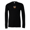 Plainview Old Bethpage (Patch) Bella + Canvas Long Sleeve Triblend T-Shirt Heather Black
