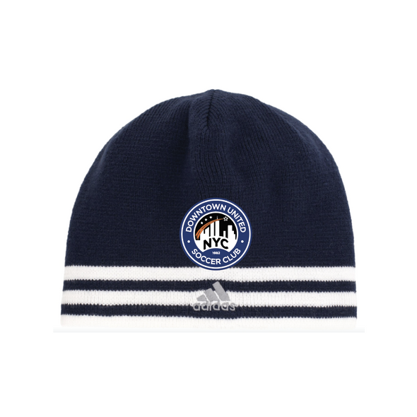 DUSC adidas Team Leverage Knit Beanie Navy/White