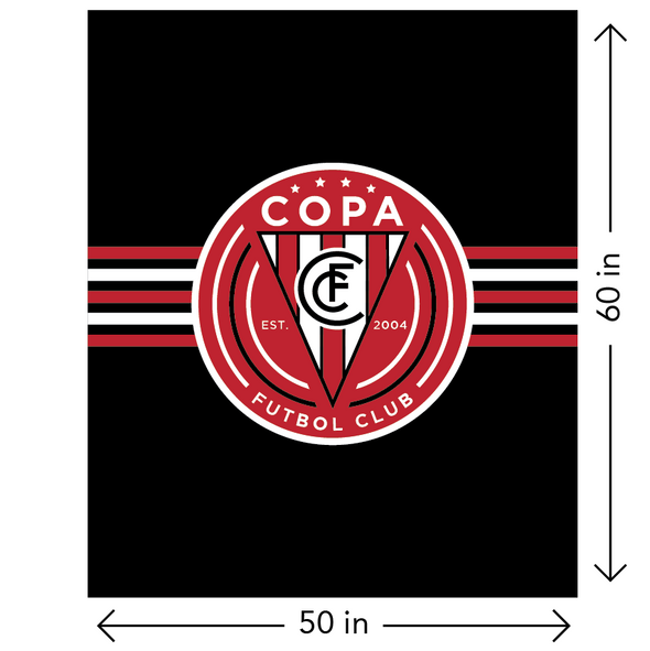 FC Copa Brooklyn Fleece Blanket Black