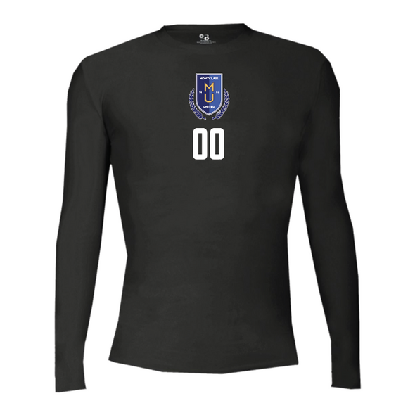 Montclair United Match Fit Champro Long Sleeve Compression Black