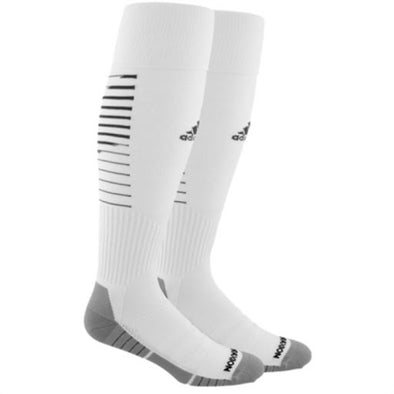 adidas Team Speed II Soccer Socks - White/Black