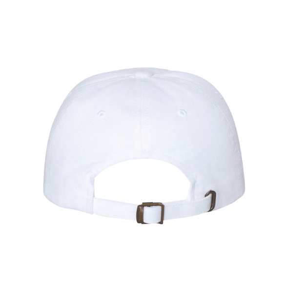 DUSC (Club Name) Yupoong Cotton Twill Dad Cap White