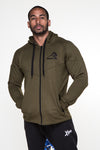 APE ULTIMATE ESSENTIAL ZIP HOODIE - KHAKI
