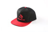 APE ULTIMATE ORIGINAL SNAPBACK - BLACK WITH RED PEAK
