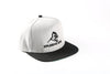 APE ULTIMATE ORIGINAL SNAPBACK - GREY WITH BLACK PEAK