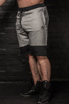 APE ELITE SHORTS - GREY / BLACK