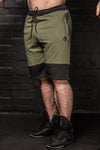 APE ELITE SHORTS - KHAKI / BLACK