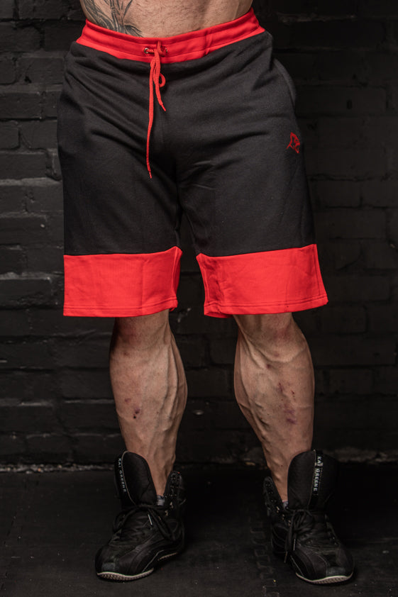 APE ELITE SHORTS - BLACK / RED
