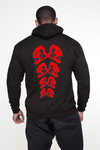 "KIDS - APE ULTIMATE ""RED"" SPINE HEAD PULLOVER - BLACK"