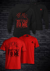 DON'T TALK TO ME HOODIE & TEE COMBO - BLACK & RED