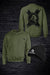 APE DOMINATE SWEATSHIRT & BEANIE COMBO - OLIVE GREEN