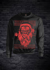APE FATHER CHRISTMAS SWEATSHIRT - BLACK