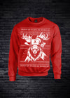 XAPE GAINDEER CHRISTMAS SWEATSHIRT - RED