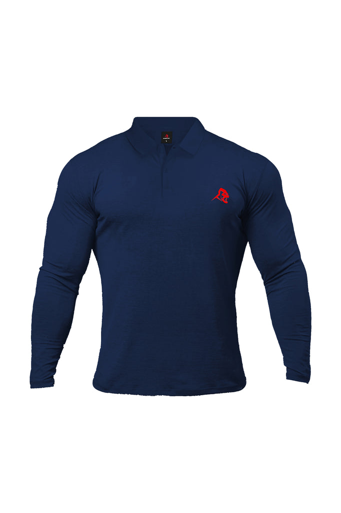 XAPE LONG SLEEVE POLO - FRENCH NAVY