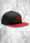 APE  SNAPBACK - BLACK WITH RED PEAK