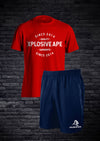 APE VALENCE SHORTS & TEE COMBO - NAVY & RED