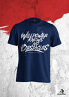 XAPE 'WILLPOWER' TEE - NAVY/WHITE