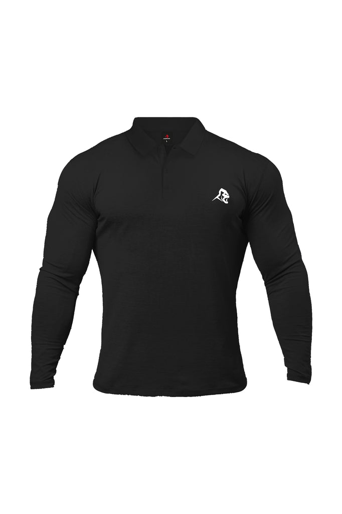 XAPE LONG SLEEVE POLO - BLACK