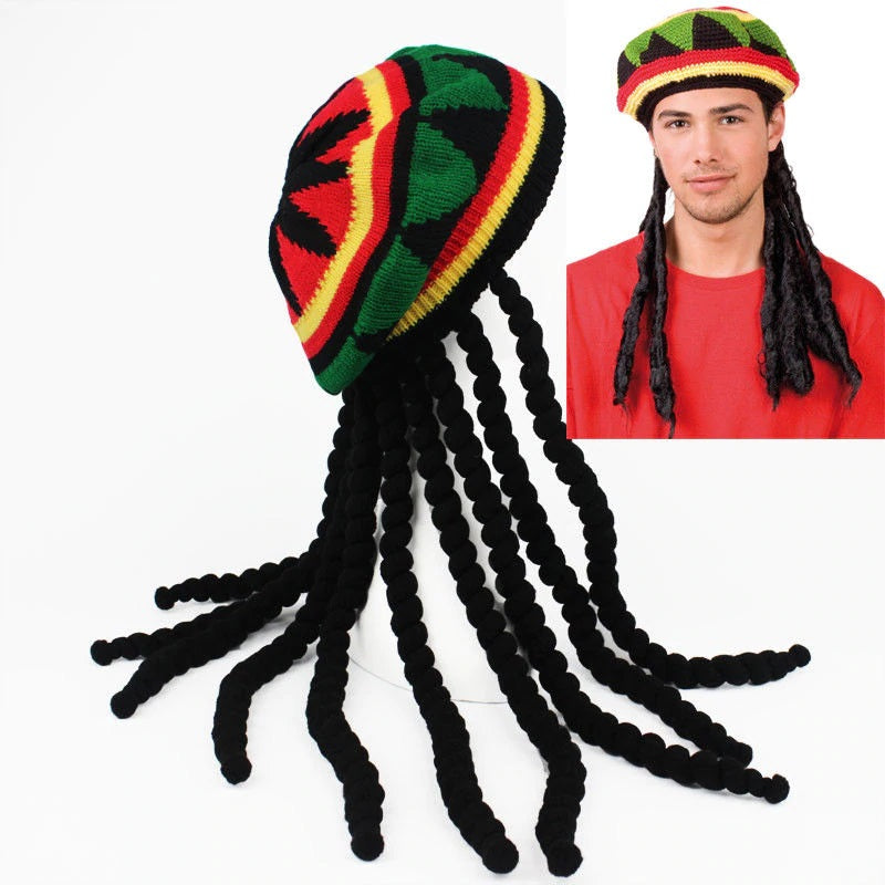 Bonnet Rasta avec dreadlocks | Rasta Lion