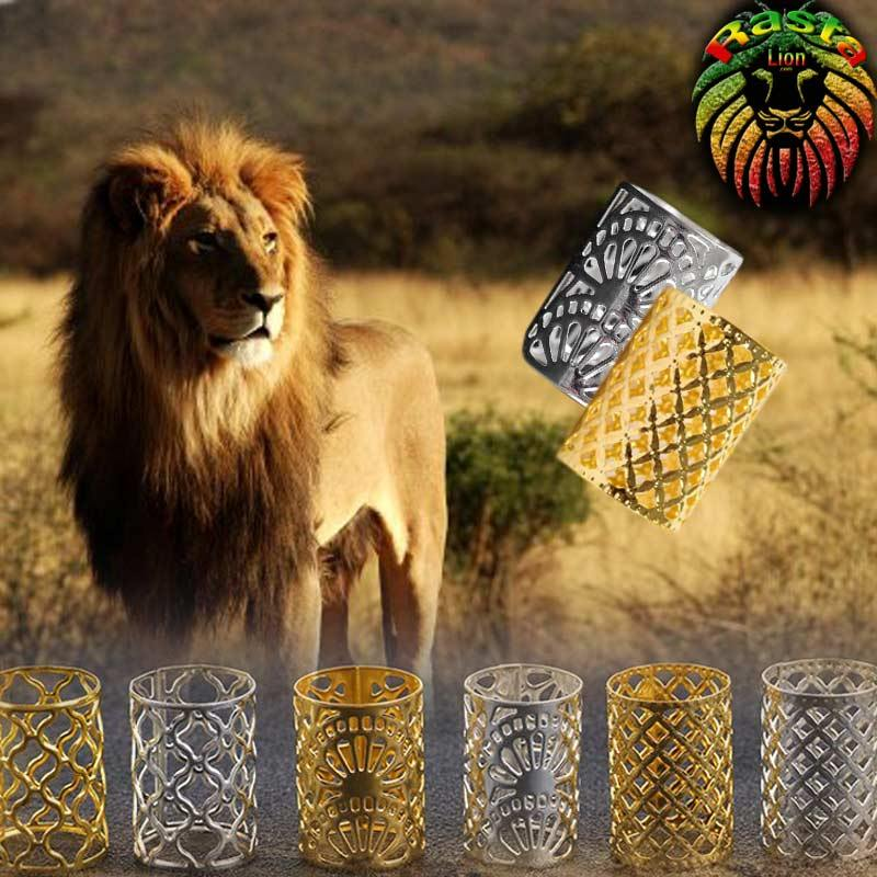 Bague Bijoux dreadlocks par 10pcs | Rasta Lion