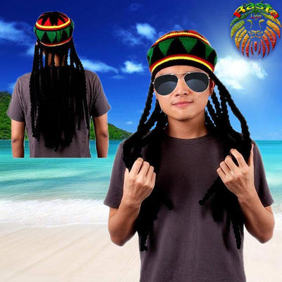 Bonnet Rasta avec dreadlocks  2 | Rasta Lion