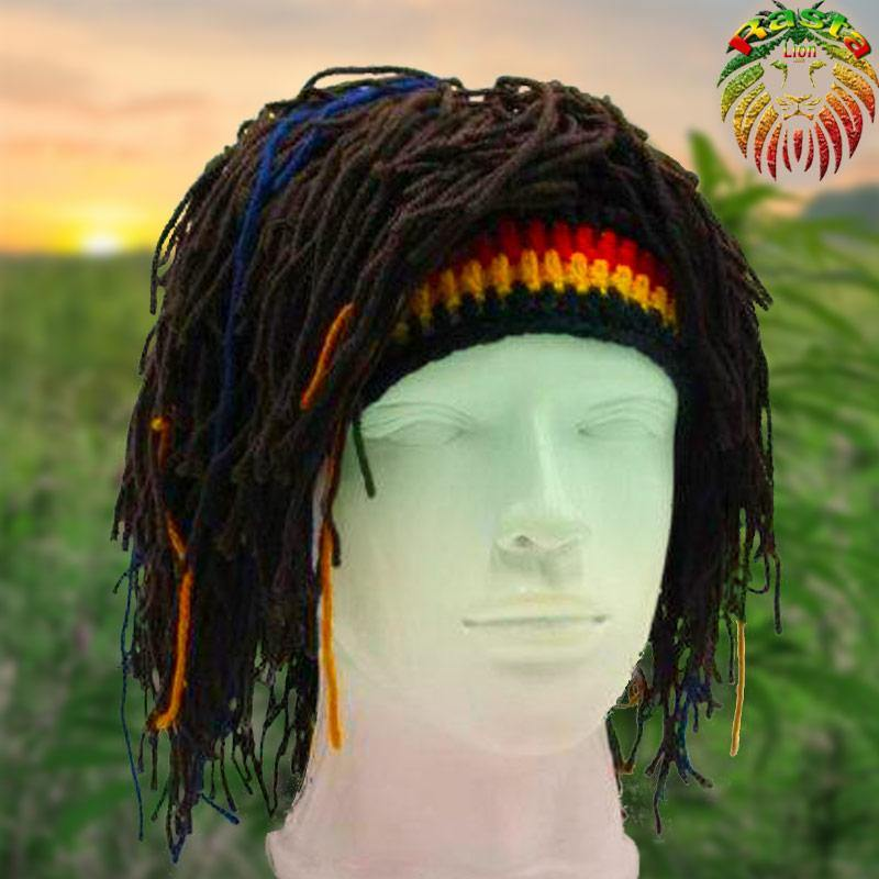 Bonnet Rasta avec Dreadlocks | Rasta-Lion