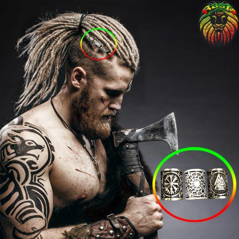 Bijou dreadlocks <br> Perles Cheveux Viking (46 variantes).