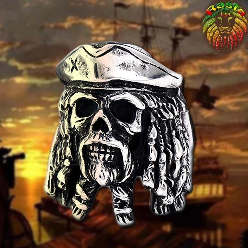 Bague rasta Pirate avec dreadlocks | Rasta-Lion