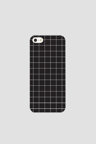 Black grid phonecase - Phonecase - Angst Child