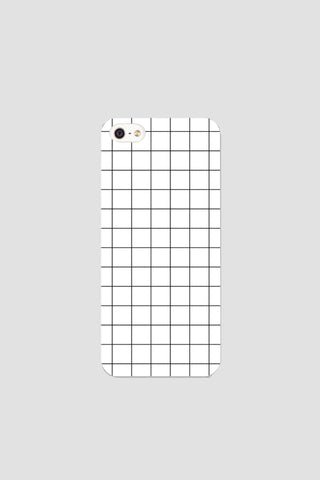 White grid phonecase - Phonecase - Angst Child