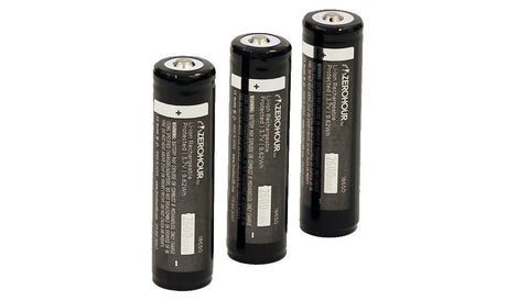 ZeroHour 3-Pack of 2600mAh 18650 Batteries