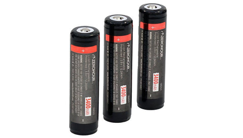 ZeroHour 3-Pack of 3400mAh 18650 Batteries