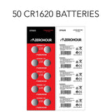 50-Pack of CR1620 Batteries for REBEL Spinner