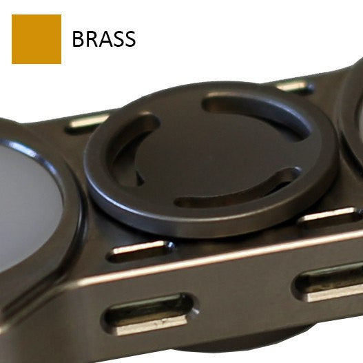 Low Profile Brass Buttons for REBEL Spinner (PRE-ORDER)