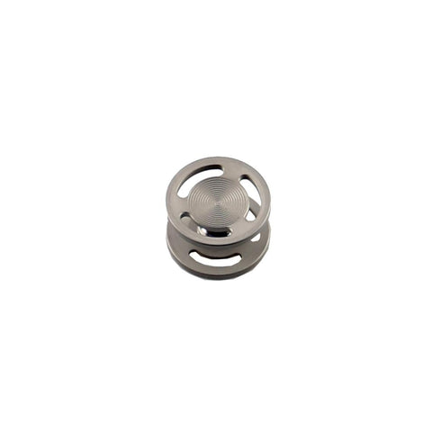 Low Profile Sandblasted Titanium Buttons for REBEL Spinner
