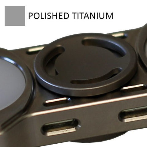 Low Profile Polished Titanium Buttons for REBEL Spinner (PRE-ORDER)
